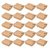 UPKOCH 20 Piezas de Cajas de Comida para Llevar Desechables Contenedores de Alimentos de Papel Kraft para Restaurantes Restaurantes Y Tiendas de Fiestas (1080 Ml)