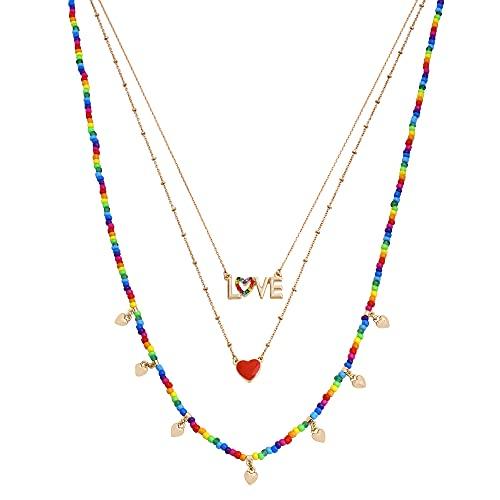 Betsey Johnson LOVE Layered Necklace Set