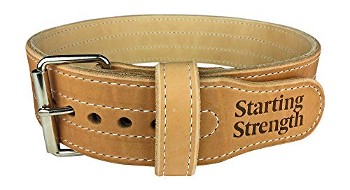 Starting Strength Weight Lifting Belt 3 Inch 10mm for Powerlifting, Weightlifting, Heavy Gym Training Workouts, for Men and Women - Single Prong Seamless Roller (MD, 30-40