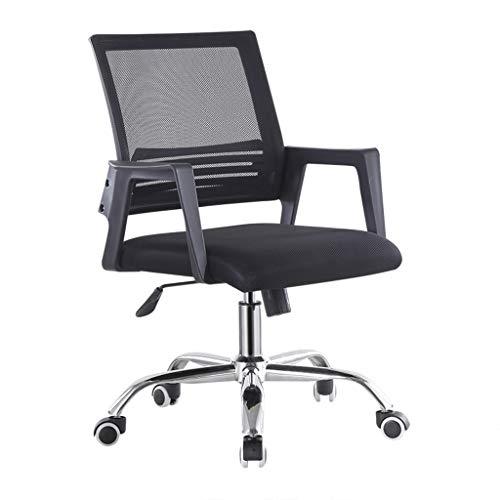 LIUDINGDING Chaise informatique Chaise de bureau Conférence de formation des ménages Chaise Fauteuil de levage Fauteuil pivotant en tissu Mesh étudiant Chaise de siège (Color : Black)