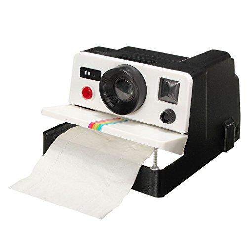 Winterworm Retro creative camera a forma di carta igienica portarotolo di carta velina box Covers