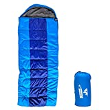 Outdoorsman Lab Sleeping Bag for Adults and Kids - All Seasons Compact, Portable, Waterproof & Lightweight Camping Gear - for Backpacking, Hiking, Outdoor & Travel - with Compression Sack
