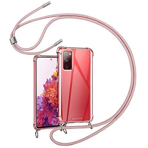 YIRSUR Handykette Handyhülle Kompatibel mit Samsung Galaxy S20 FE/S20 FE 5G Hülle mit Kordel zum Umhängen Necklace Hülle mit Band Transparent Silikon Kompatibel mit Galaxy S20 FE 5G