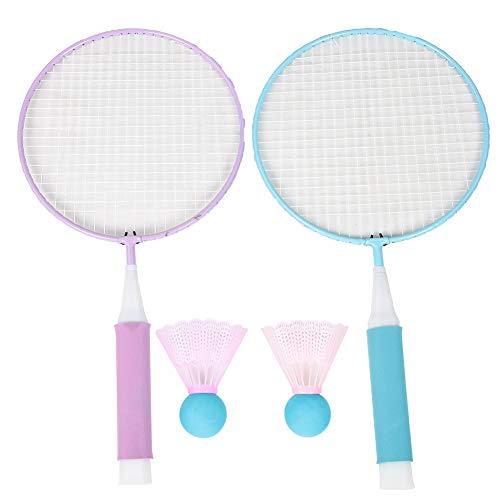 PYMQSM Set da Badminton in plastica per Bambini Che Giocano Giocattolo Sportivo Accessorio per Esterni/Interni