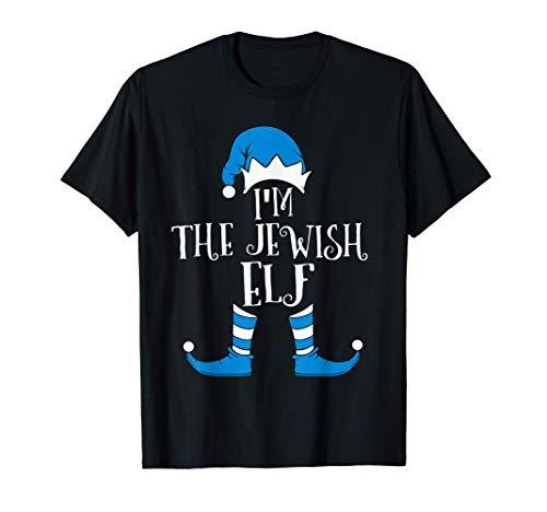 Jewish Elf Hat Funny Hanukkah Gift Jewish Chanukah PJ T-Shirt