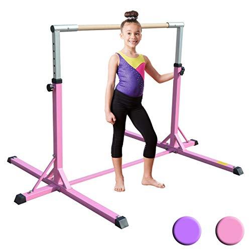 XTEK Gym Pro Gymnastics Bar - Adjustable Height Kip Bar with Added Stability, Premium Gymnastics Equipment for Home Training