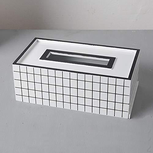 YYLSHCYHLI Caja de servilletas Caja de pañuelos Servilletero Cajas de toallitas para bebés Artesanía Sala de Estar Mesa de Centro Decoración Papel higiénico Toalla Recipiente 2