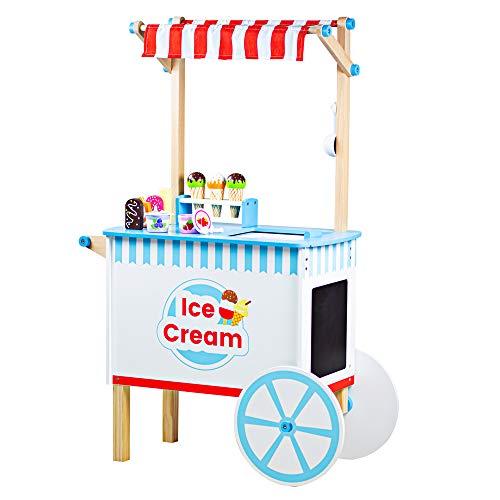 Bigjigs Toys Juego de carrito de helado de madera