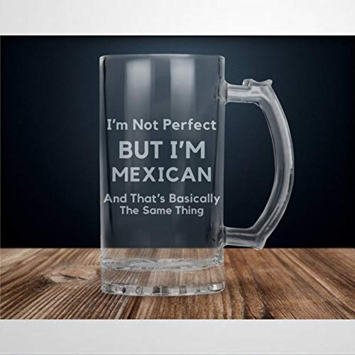 Taza de cerveza de 473 ml, regalo mexicano, orgullo mexicano, bandera mexicana, copa de cerveza mexicana con asa de vidrio transparente para pub, bar, fiesta, hogar,...