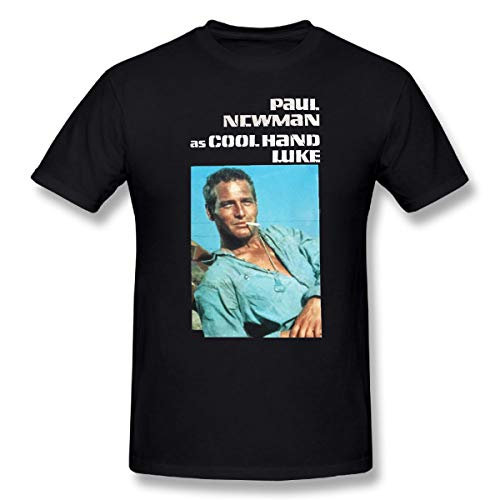 Cool Hand Luke Movies Shirt for Mens Contton t Shirts Black (m)