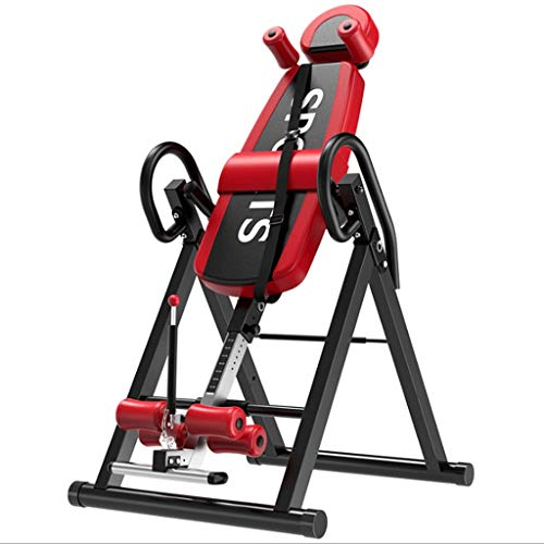 YTYT Inversion Table for Back Pain with Adjustable Headrest and Protective Belt, Back Stretcher Machine for Pain Relief Therapy, Inversion Tables for Back Pain, 300 lbs Capacity (red)