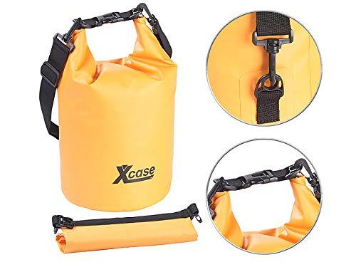 Xcase wasserdicht Sack: Wasserdichter Packsack, strapazierfähige Industrie-Plane, 10 l, orange (Packsäcke Motorräder)