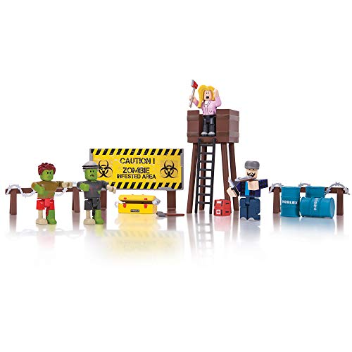 Roblox Action Collection - Zombie Attack Playset [Includes Exclusive Virtual Item]