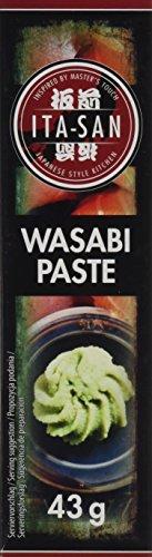 ITA-SAN Wasabipaste, zum Würzen von Sushi, vegetarisch, halal, glutenfrei (5 x 43 g)