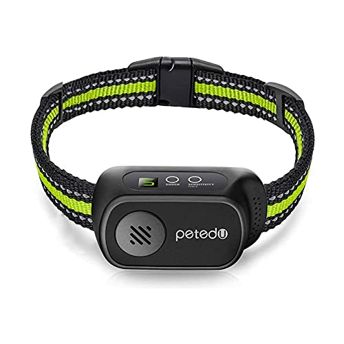 Dog Bark Collar - Rechargeable Bark Collar for Small Medium Large Dogs, Humane Anti Barking Collar with Beep Vibration and Shock