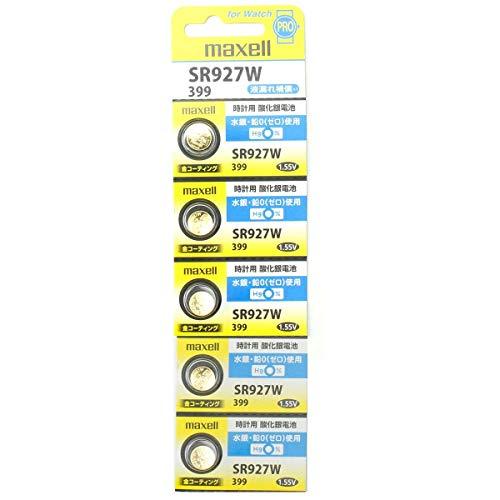 Maxell SR927W 1.55v 399 Watch Battery (5 Batteries)