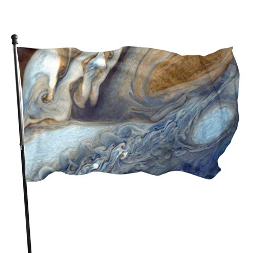 ShiHaiYunBai Décoration d'extérieur Drapeaux, Jupiter Planet Big Red Stains Space Space Travel Flag Birthday Decorations Flags Decoration 3x5 Feet Vibrant Colors Quality Polyester and Brass Grommets