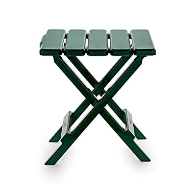 Camco 21031 Green Regular Adirondack Portable Outdoor Folding Side Table, Perfect for The Beach, Camping, Picnics, Cookouts and More, Weatherproof and Rust Resistant