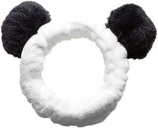 Fashion Lovely Soft Bear Ear Makeup Cosmetic Shower Elastic Hair Band Spa Headband Wash Face Hairlace Headband Black