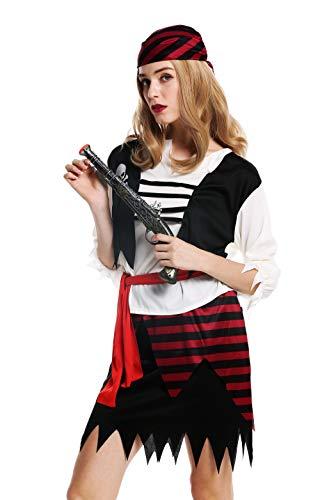 dressmeup W-0003-S/M Kostüm Damen Frauen Karneval Halloween Piratin Seeräuberin Gr. S/M