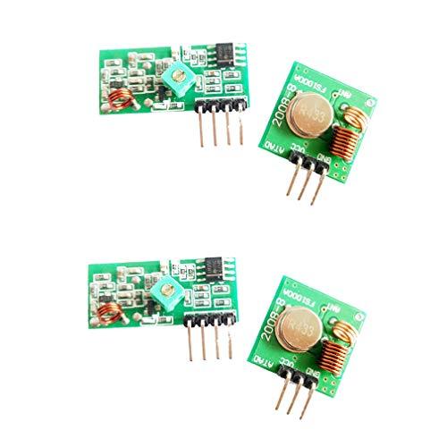 HiLetgo 2 Sets 433M Transmitter + Receiver Kit High Frequency Super Regenerative Transceiver Module for Burglar Alarm