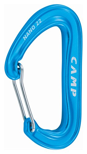 CAMP Nano 22, Moschettone Unisex-Adulto, Azzurro, Taglia Unica