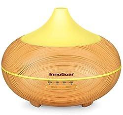 cheap InnoGear 500ml Aromatherapy Essential Oil Diffuser Wood Grain Glance Diffuser Cool Mist…