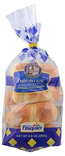 Brioche Pasquier - Authentic French Brioche Pain au Lait Sweet Milk Rolls, 9.9oz (280g) (2-PACK)