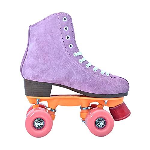 4 Wheels Skating Schuhe ,Zweireihige Vierrad-Rollschuhe, Skates Für Erwachsene, Männer, Männer Und Frauen, Die Spezielle Schuhe Rinken-Rosa_36.