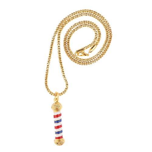 perfeclan Elegante Gargantilla de Peluquería Profesional Colgante Decorativo Collar de Luces - Dorado