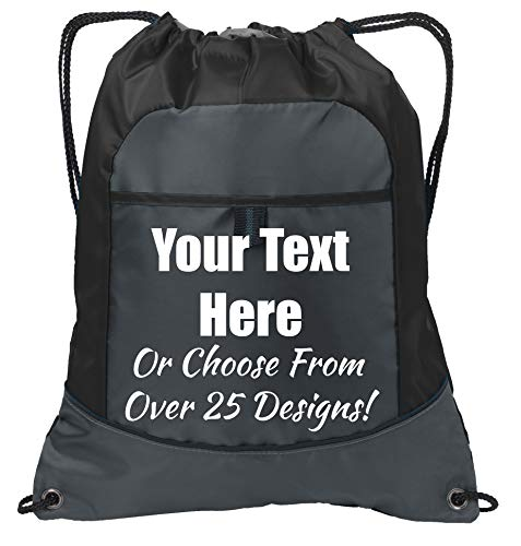 LARGE COTTON DRAWSTRING BAG PERSONALISED DIGGER Add your name!