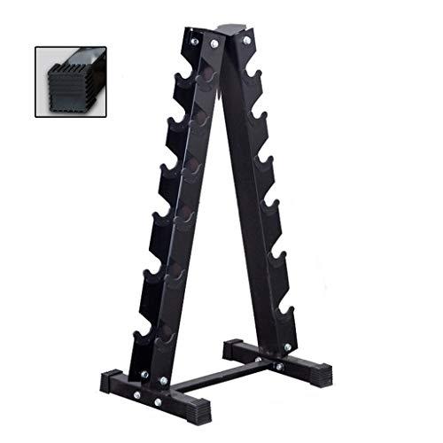 Hantelbäume Hantelablage Home Fitness Triangle Hantel Rack Gym Hantel Storage Rack Hantel Display Rack (Color : Black, Size : 42 * 65.5 * 107cm)