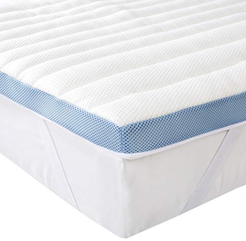 AmazonBasics 7-Zone-Air-Memory-Foam-Mattress-Topper - 120 x 200 cm