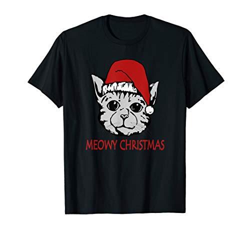 Meowy Christmas Cat, Weihnachts Katze, Geschenk,Süßes Katzen T-Shirt
