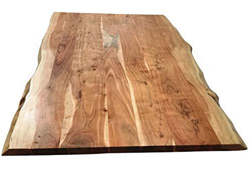 SIT-Möbel Table & Banc de Table 200 x 100 cm Plaque d'acacia Armature métal L = 200 x l = 100 x H = 76 cm Plaque Naturelle, Armature Argent Vieilli