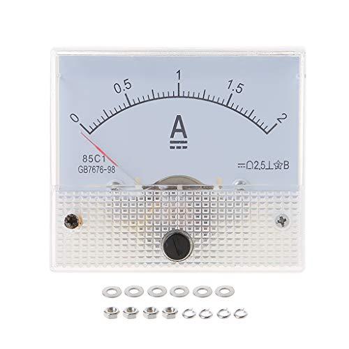 ZHOUMO 85C1 Amperemeter DC Analoger Strommesser Panel Mechanischer Zeiger Typ 1/2/3/30/50 / 100A 50/100/200/500mA (2A)