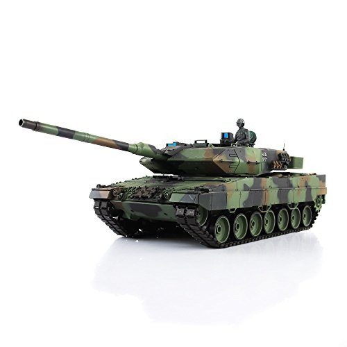 HengLong 2.4Ghz 1/16 Scale Radio Remote Control German Leopard 2A6 RC Air Soft RC Battle Tank Smoke & Sound