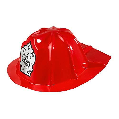 Widmann 2861K - Feuerwehr Hut für Kinder, aus PVC, FFW, Beruf, Mottoparty, Karneval