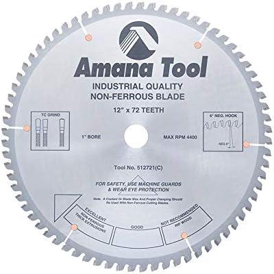 "new arrival Amana Tool - 512721 Carbide Tipped Aluminum outlet sale & Non-Ferrous Metals wholesale 12"" Dia x 72T Tcg outlet online sale"