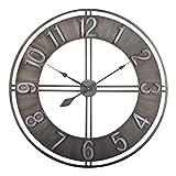 Studio Designs Home 30' Industrial LOFT Decor Wall Clock, Brushed Metal
