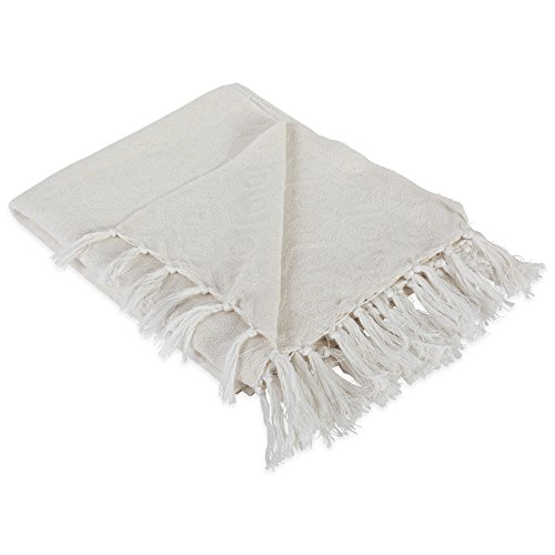 DII Modern Cotton Geometric Blanket Throw with Fringe For...