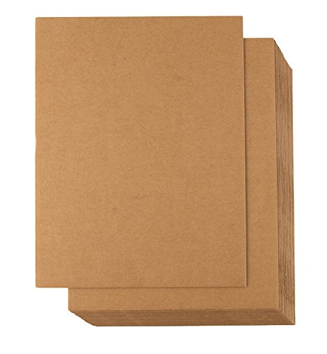 24 Sheets Corrugated Cardboard Inserts for Packing, Mailing, Crafts (Kraft Brown, 8.5x11)