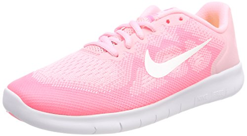 Nike Free RN 2017, Zapatillas de Entrenamiento para Niñas, Rosa (Arctic Punch/Metallic Summit White-Sunset Pulse 602), 35.5 EU