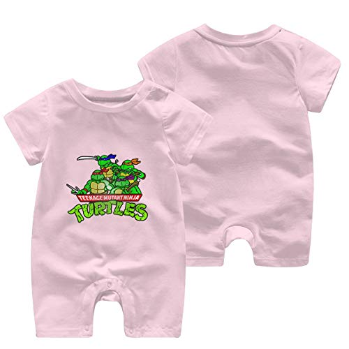 Mutant-Ninja Turtles Newborn Baby Shortsleeve Body Suits Cotton Jumpsuit Pink 12 Months