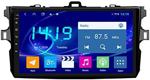 AEBDF Android 9.1 Navegación estéreo para automóvil para Toyota Corolla 2007-2013.9 Pulgadas Sat Nav TOUP Pantalla Bluetooth Player Multimedia con Enlace de Espejo,8Core WiFi+4G 4+32 DSP+Carplay