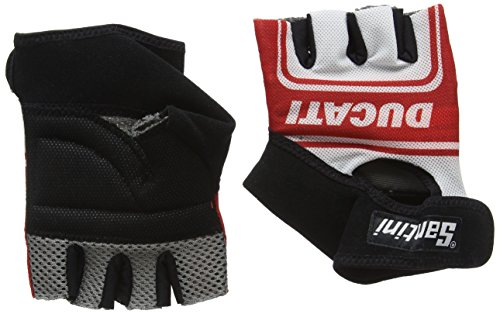 Santini Herren Replica-Dukaten Ducati Classic Race Handschuhe–Medium/Large, Weiß M weiß