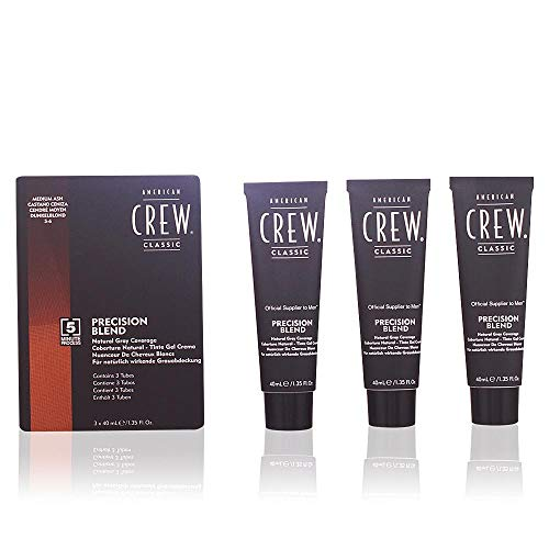American Crew Classic Precision Blend Tinte Gel Crema (Castaño Ceniza) - 3 Unidades x 40 ml.