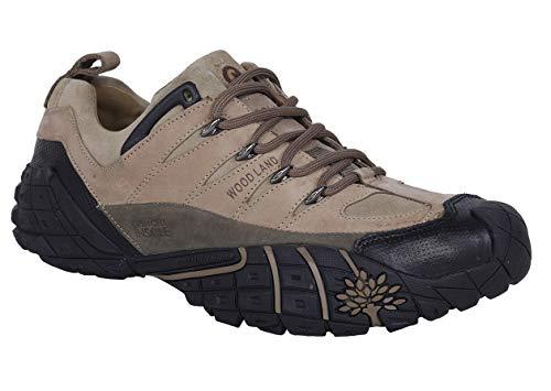 Woodland Men's Khaki Leather Sneakers - (5 UK)