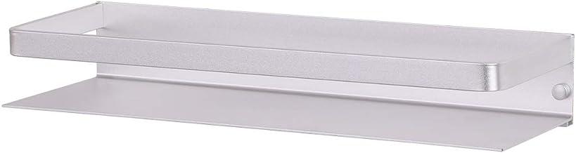 KES BSC409-P Estante de ducha de aluminio con barandilla sin taladro, cesta de almacenamiento de cocina inoxidable, soporte de pared anodizado, BSC409-P