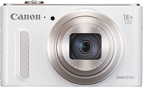 Canon PowerShot SX610 HS Digitalkamera (20,2 MP, 18-fach opt. Zoom, 36-fach ZoomPlus, 7,5cm (3 Zoll) Display, opt. Bildstabilisator, WLAN, NFC) weiß